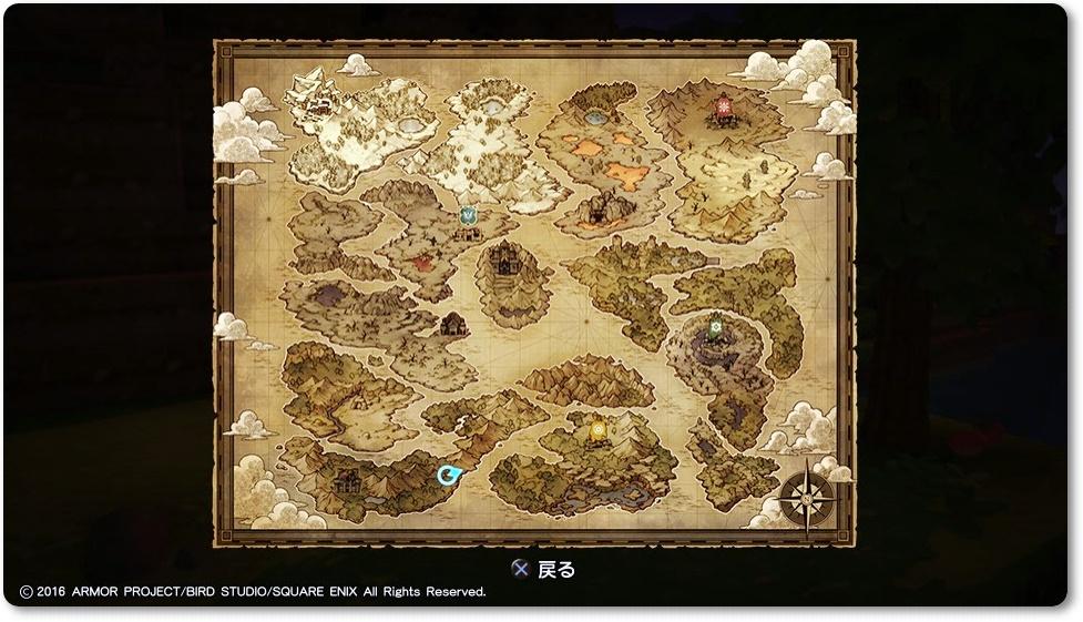 ドラクエビルダーズ 地図