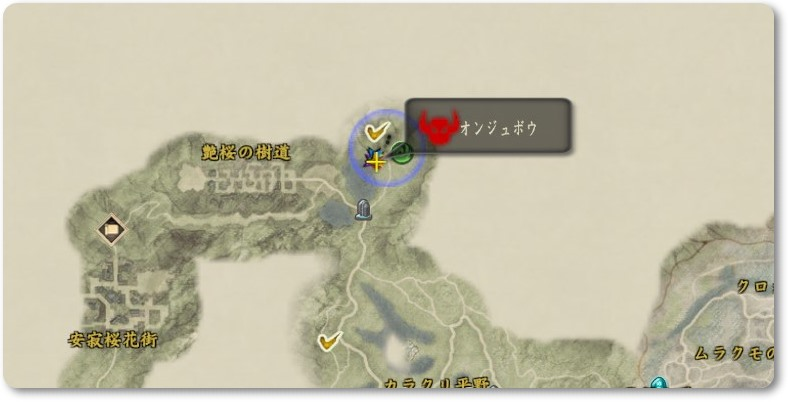 討鬼伝2 オンジュボウ地図