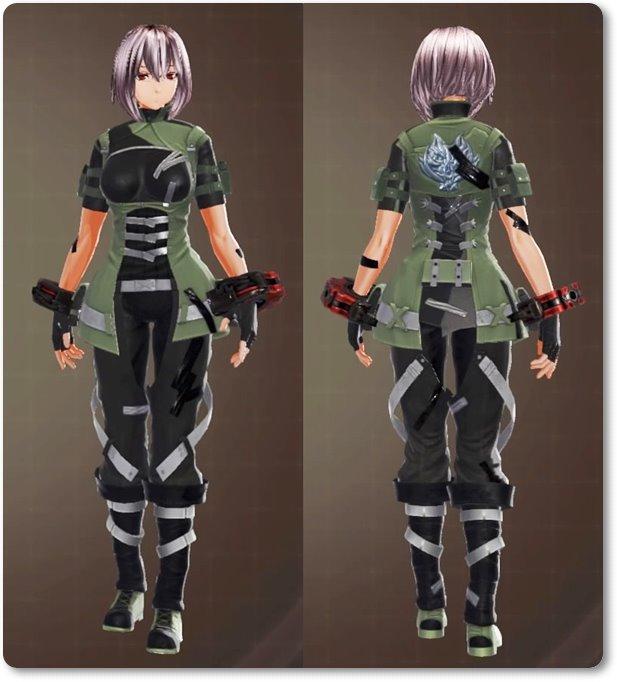 ge3F制式兵装・緑(軽装/装飾)
