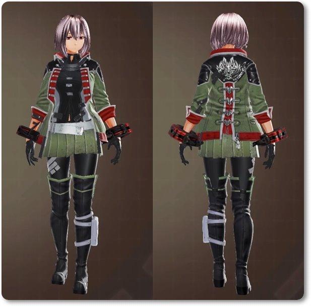 ge3F制式士官服(装飾)・緑