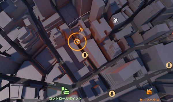 チャージングブルdivision2地図
