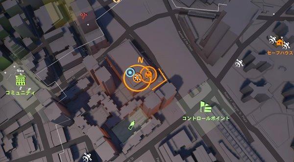 division2ヴィヴィアンの精神鑑定地図