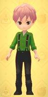 サスペンダーパンツ(緑)牧場物語オリーブ