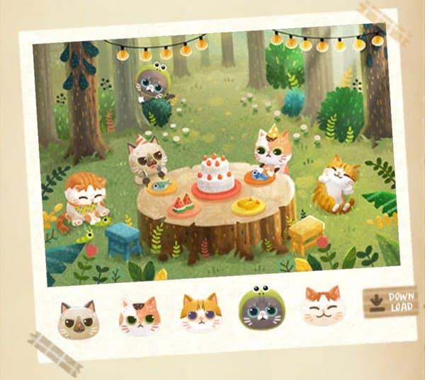 森パーティ猫と秘密の森